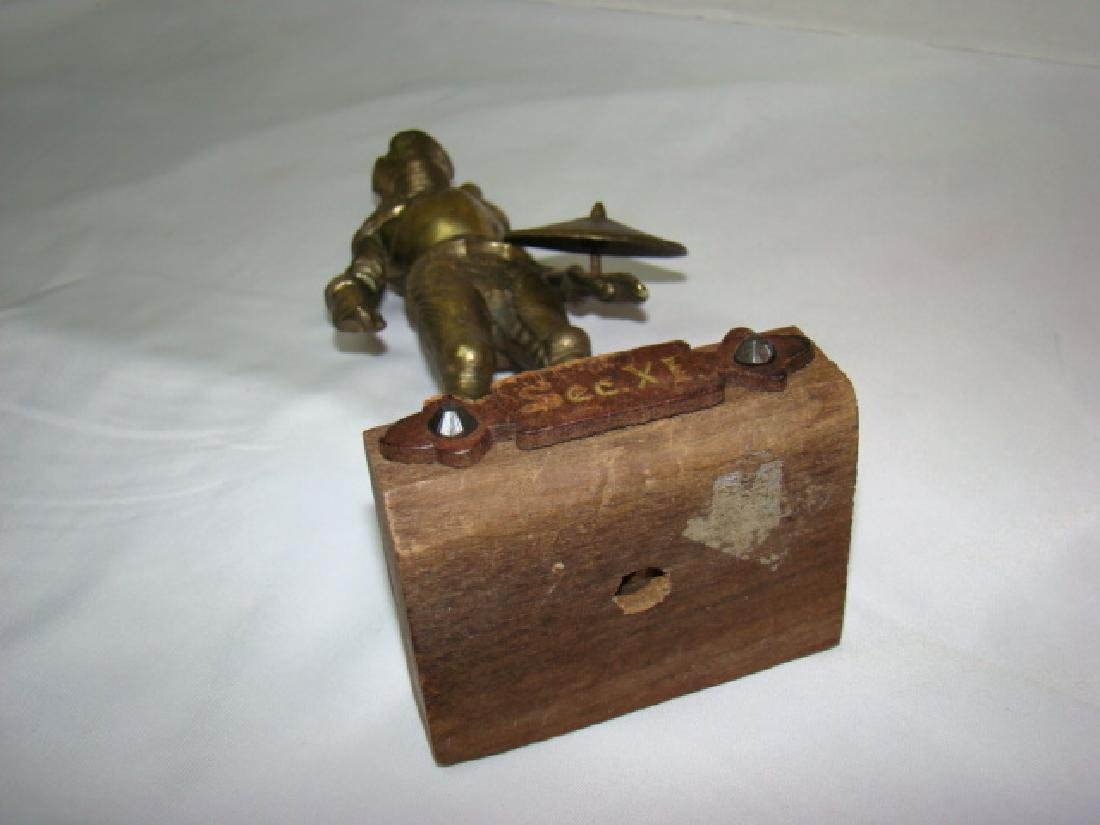 SOLID BRASS MEDIEVAL KNIGHT STATUE - 5