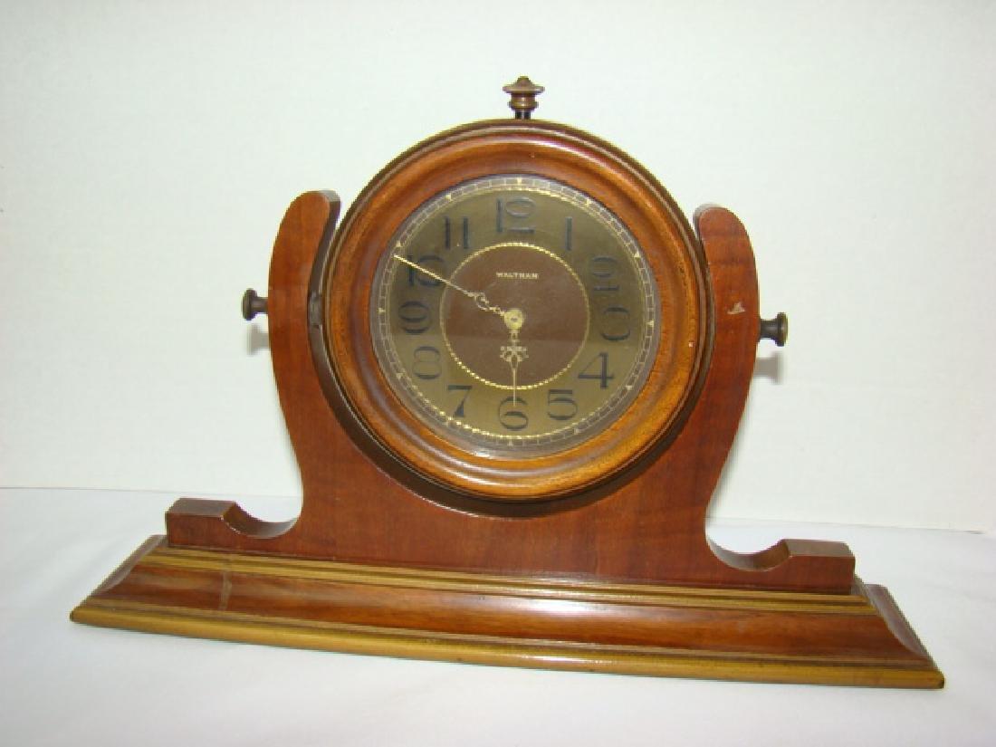 WALTHAM 8-DAY MANTEL CLOCK