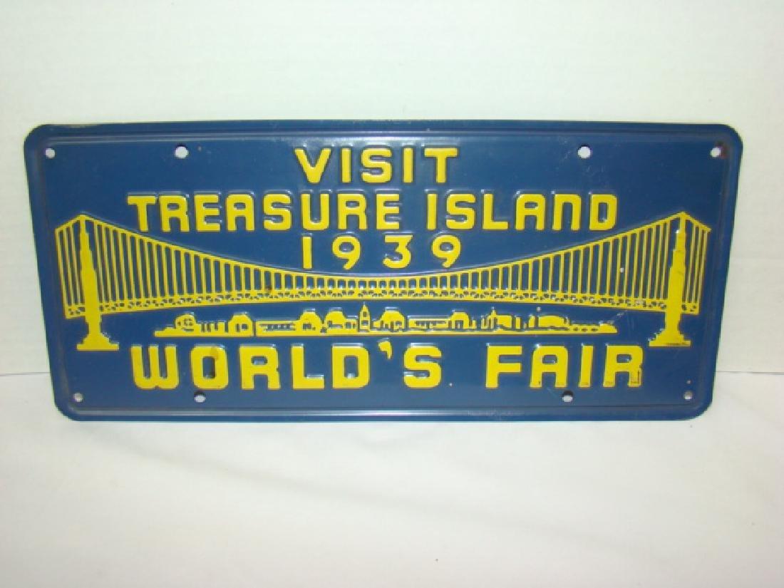 1939 VISIT TREASURE ISLAND WORLD'S FAIR ADVERTISIN