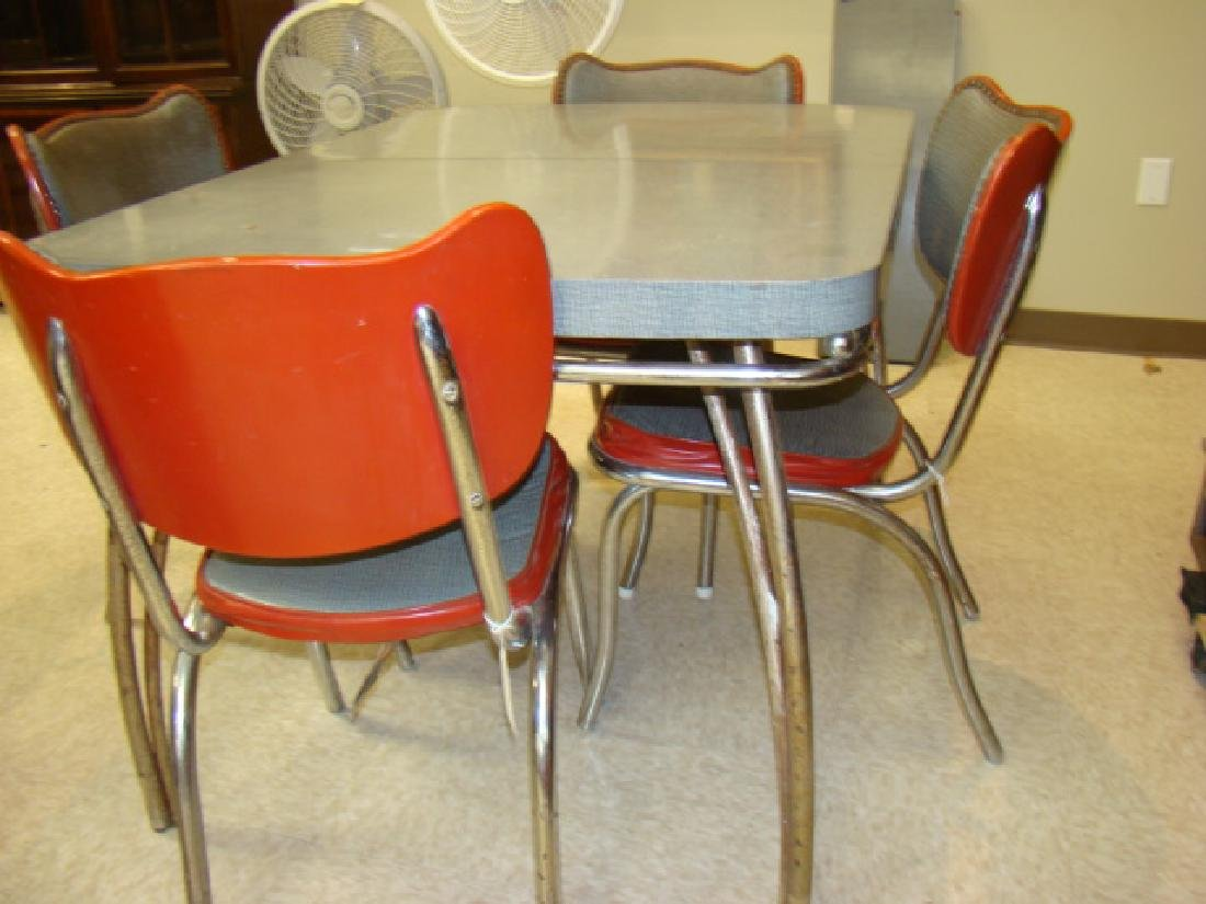 RETRO KUEHNE FORMICA TABLE & 4 CHAIRS - 2