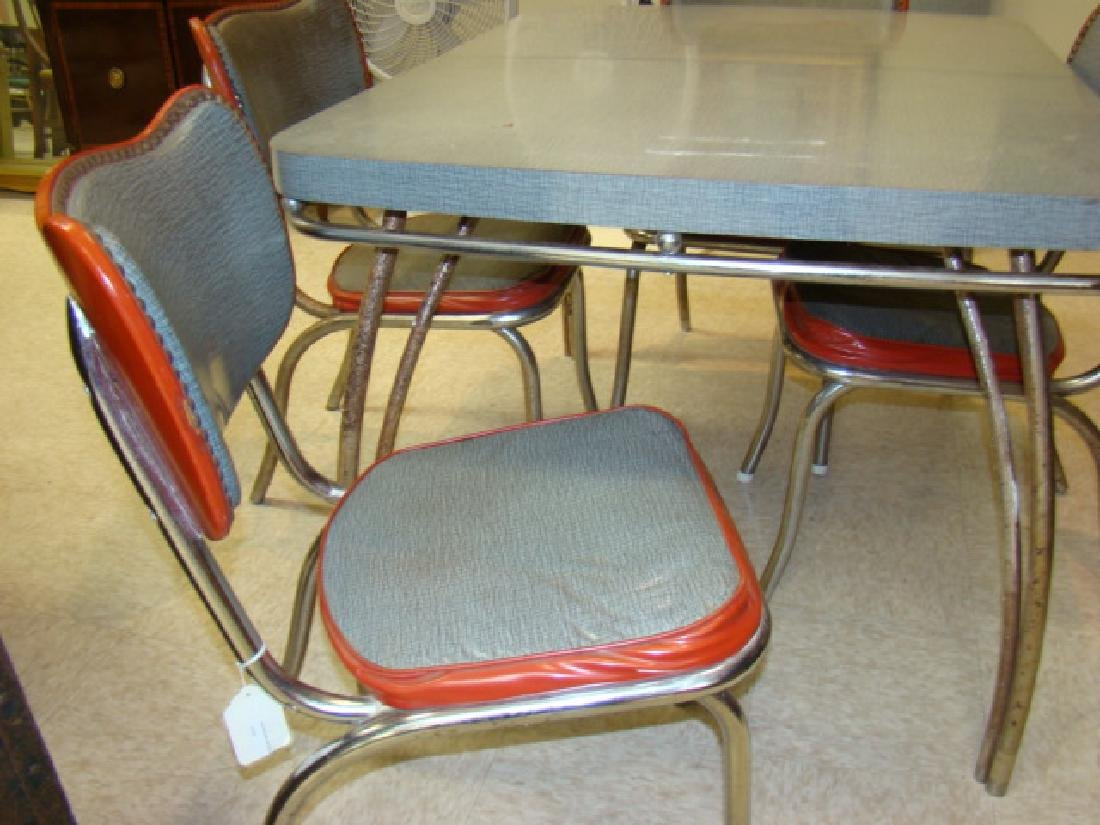 RETRO KUEHNE FORMICA TABLE & 4 CHAIRS - 3