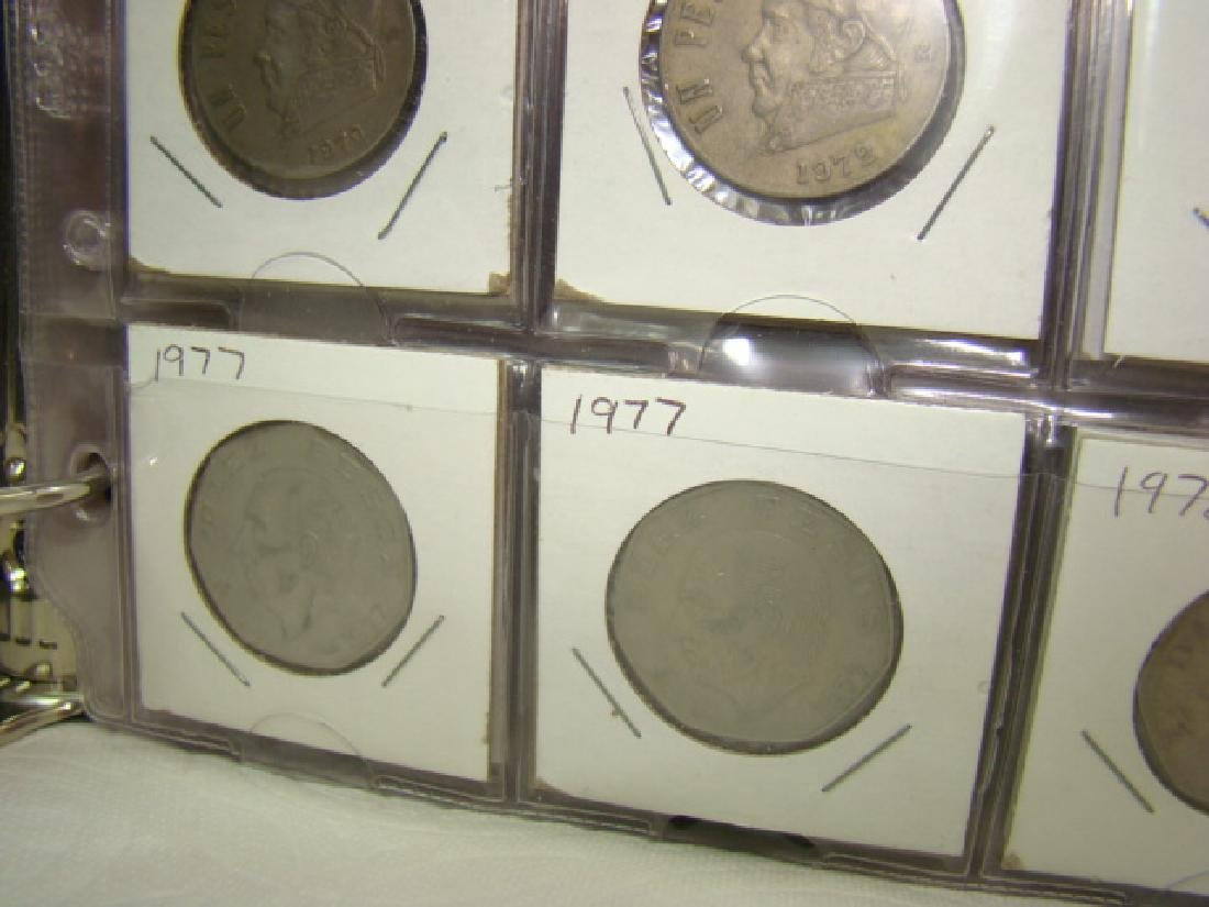 FOREIGN COINS IN BINDER - 4