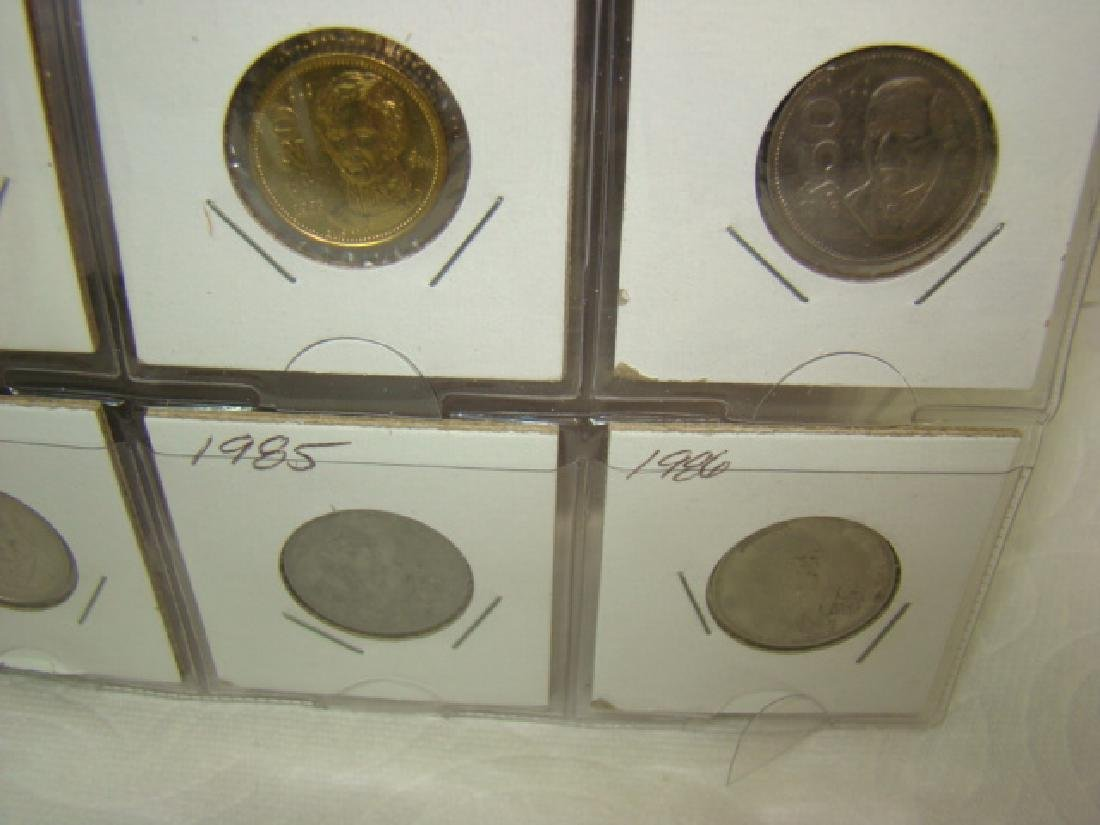 FOREIGN COINS IN BINDER - 8