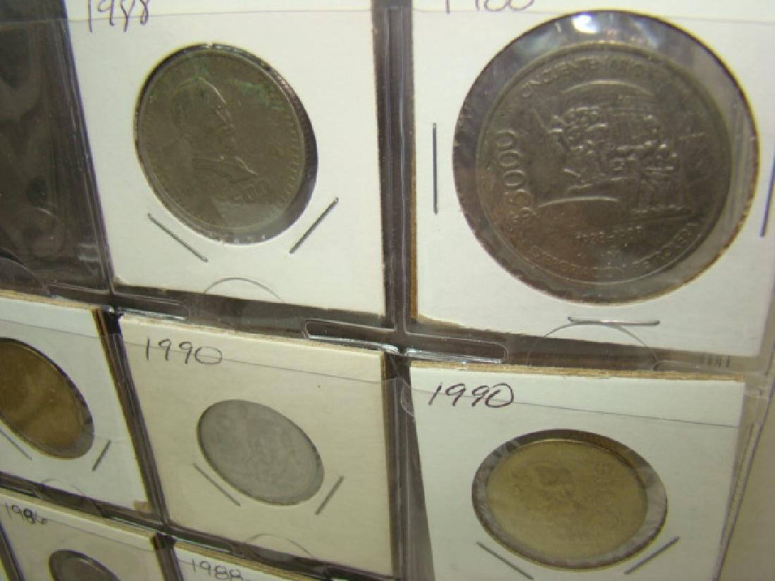 FOREIGN COINS IN BINDER - 9