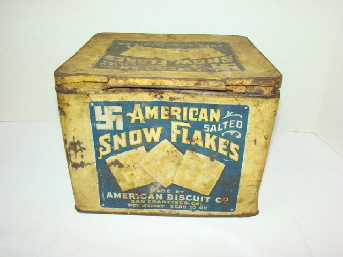 AMERICAN BISCUIT CO - SALTED CRACKER TIN
