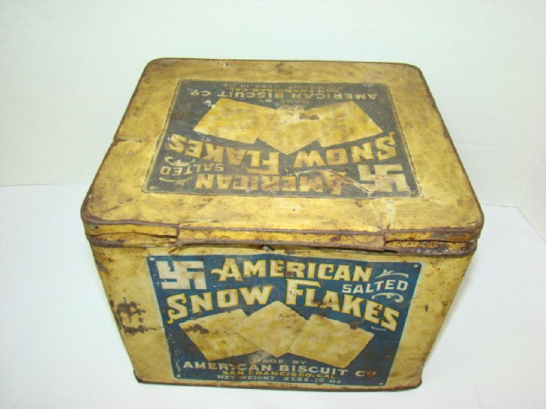 AMERICAN BISCUIT CO - SALTED CRACKER TIN - 2