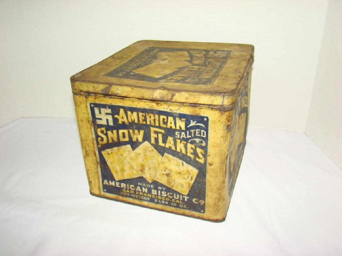 AMERICAN BISCUIT CO - SALTED CRACKER TIN - 3