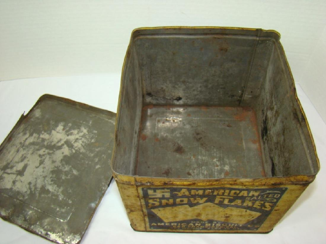 AMERICAN BISCUIT CO - SALTED CRACKER TIN - 6