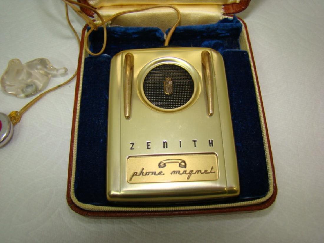 VINTAGE ZENITH PHONE MAGNET HEARING AID IN ORIGINA - 3