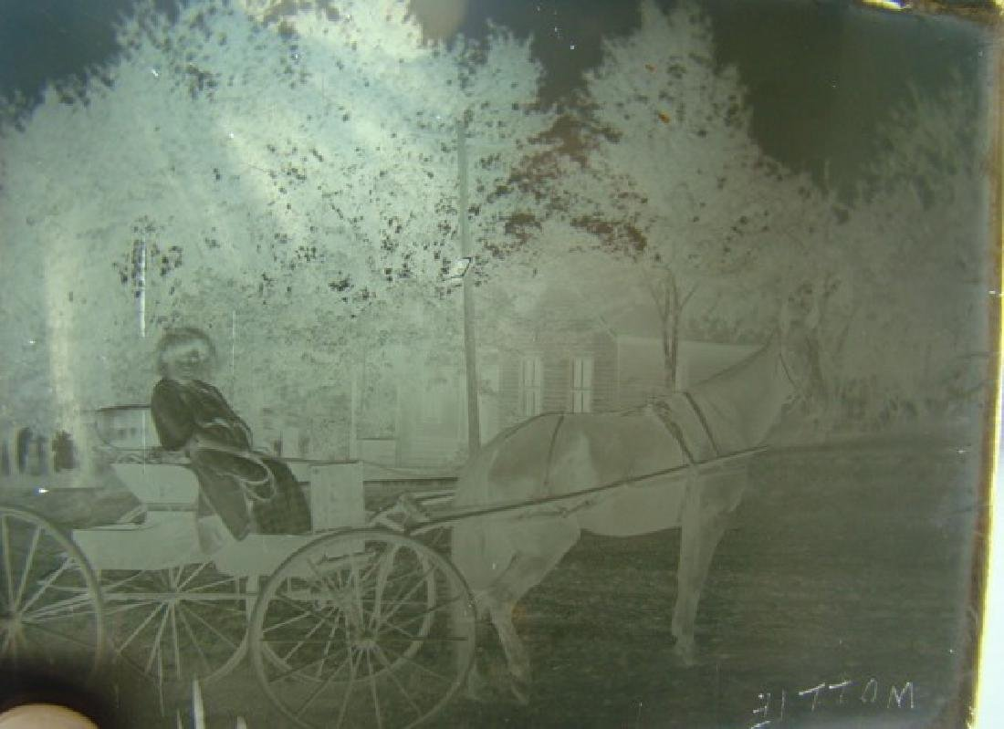 3 ANTIQUE PHOTO GLASS NEGATIVES-TRANSPORTATION