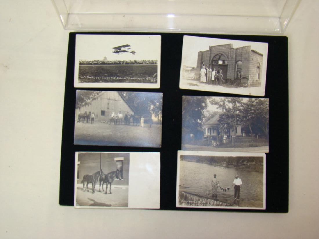 6 BLACK & WHITE POSTCARDS