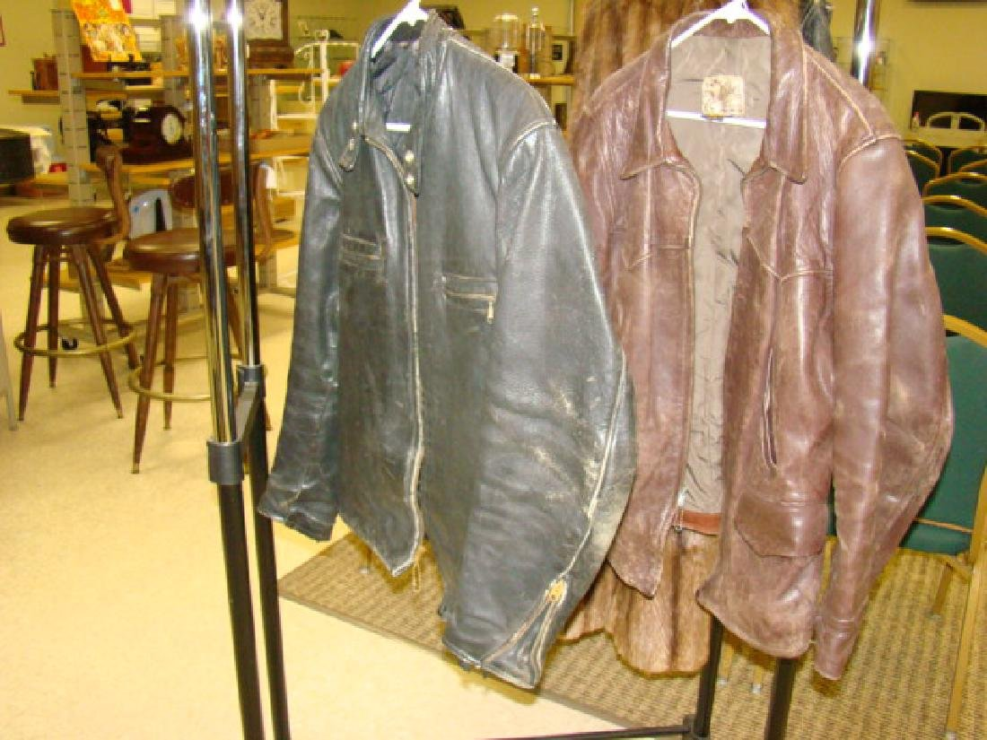 2 LEATHER JACKETS-RICH SHER & TAUBES OF CALIFORNIA