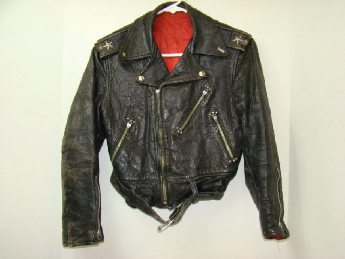 VINTAGE CHILD'S MOTORCYCLE LEATHER JACKET