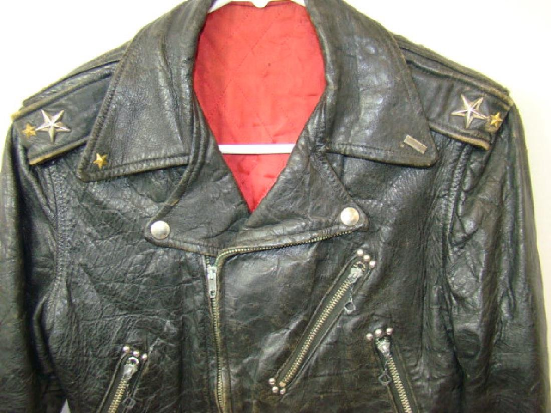 VINTAGE CHILD'S MOTORCYCLE LEATHER JACKET - 2