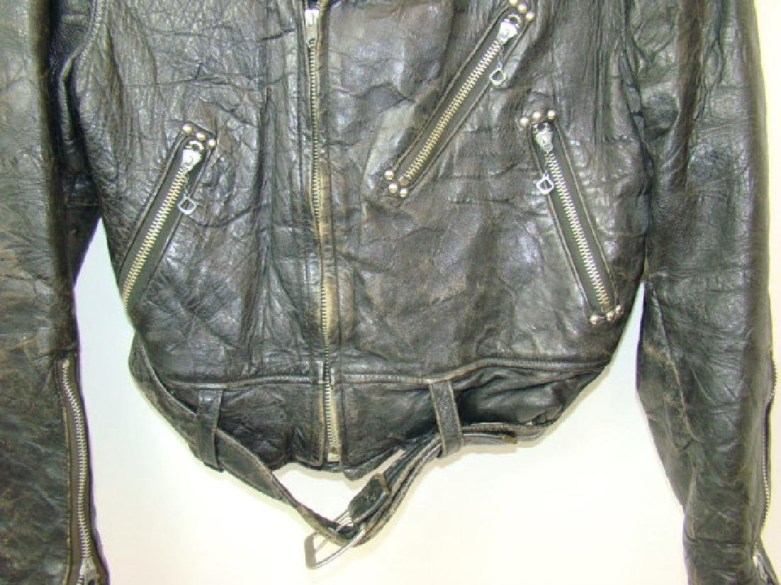 VINTAGE CHILD'S MOTORCYCLE LEATHER JACKET - 3