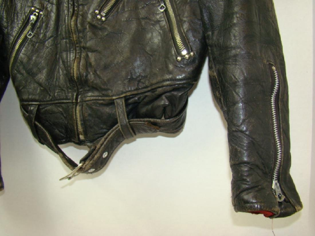 VINTAGE CHILD'S MOTORCYCLE LEATHER JACKET - 4
