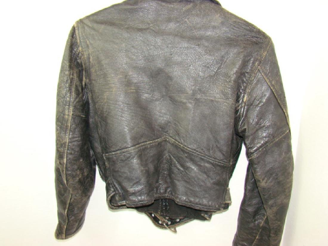 VINTAGE CHILD'S MOTORCYCLE LEATHER JACKET - 5