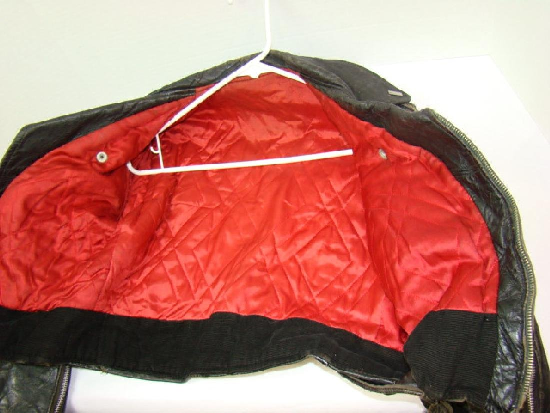 VINTAGE CHILD'S MOTORCYCLE LEATHER JACKET - 6