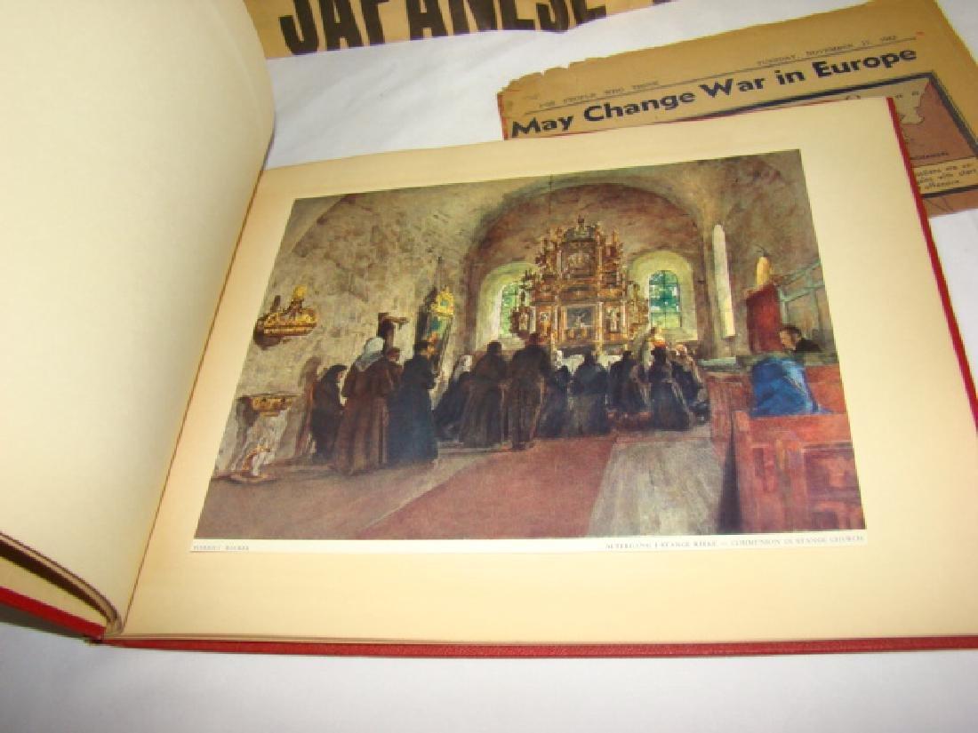 WWII NEWS ARTICLES-SCRAPBOOK ON NORWEGIAN PAINTING - 2