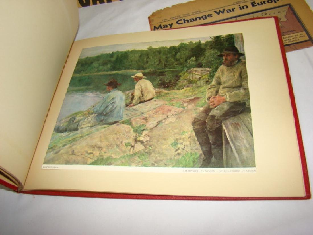 WWII NEWS ARTICLES-SCRAPBOOK ON NORWEGIAN PAINTING - 3
