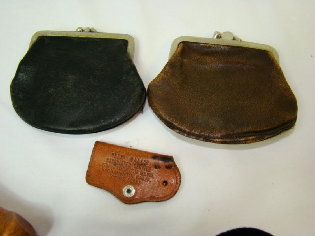 VINTAGE MOTORCYCLE BOOTS & COWHIDE COIN PURSES - 10