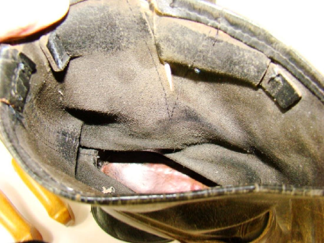VINTAGE MOTORCYCLE BOOTS & COWHIDE COIN PURSES - 8