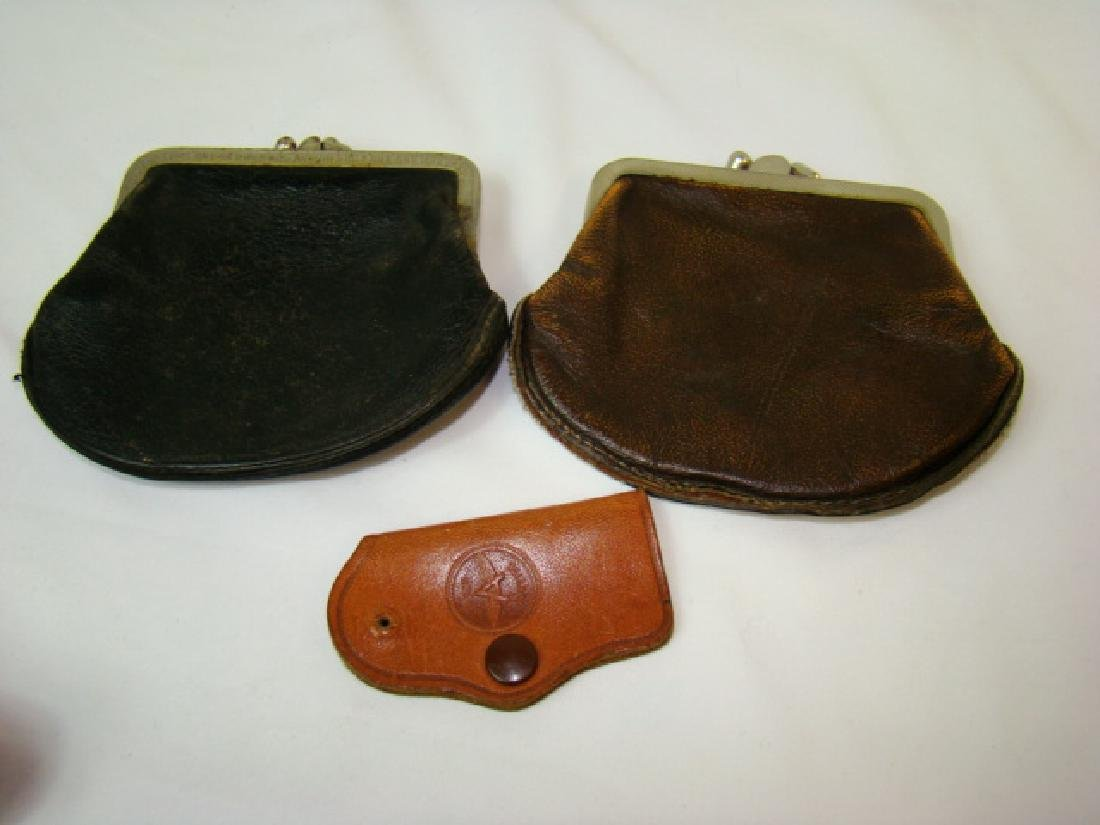 VINTAGE MOTORCYCLE BOOTS & COWHIDE COIN PURSES - 9
