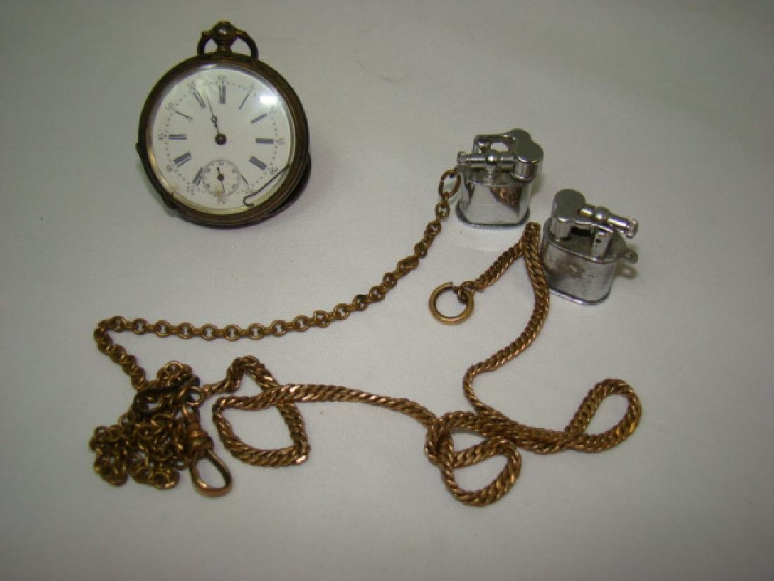 ANTIQUE KEY WIND CHRONO POCKET WATCH AND MORE