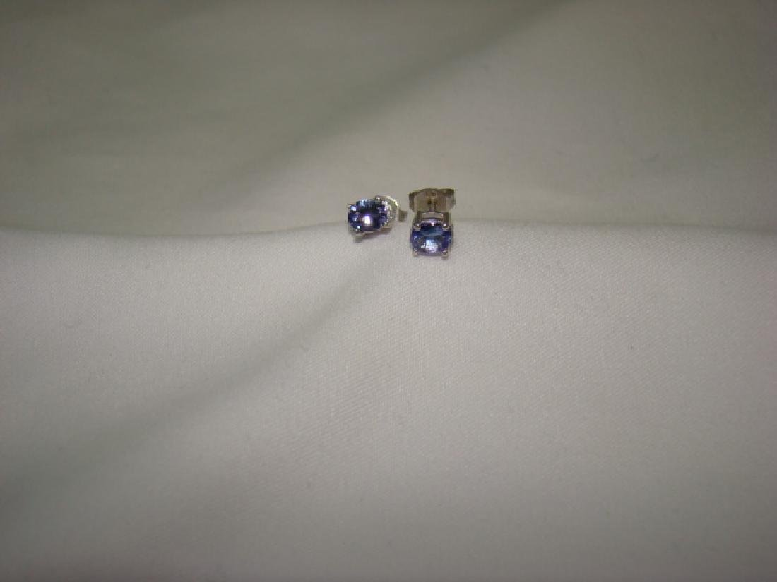 LADIES EARRINGS LIGHT BLUE STONE - 2