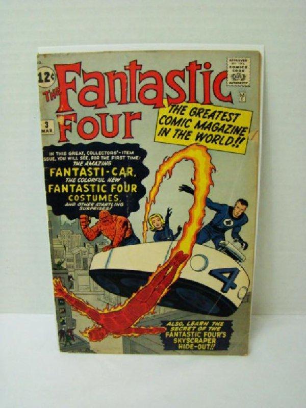 RARE FANTASTIC FOUR VOL 1 #3 - MARCH 1962- 12 CENT