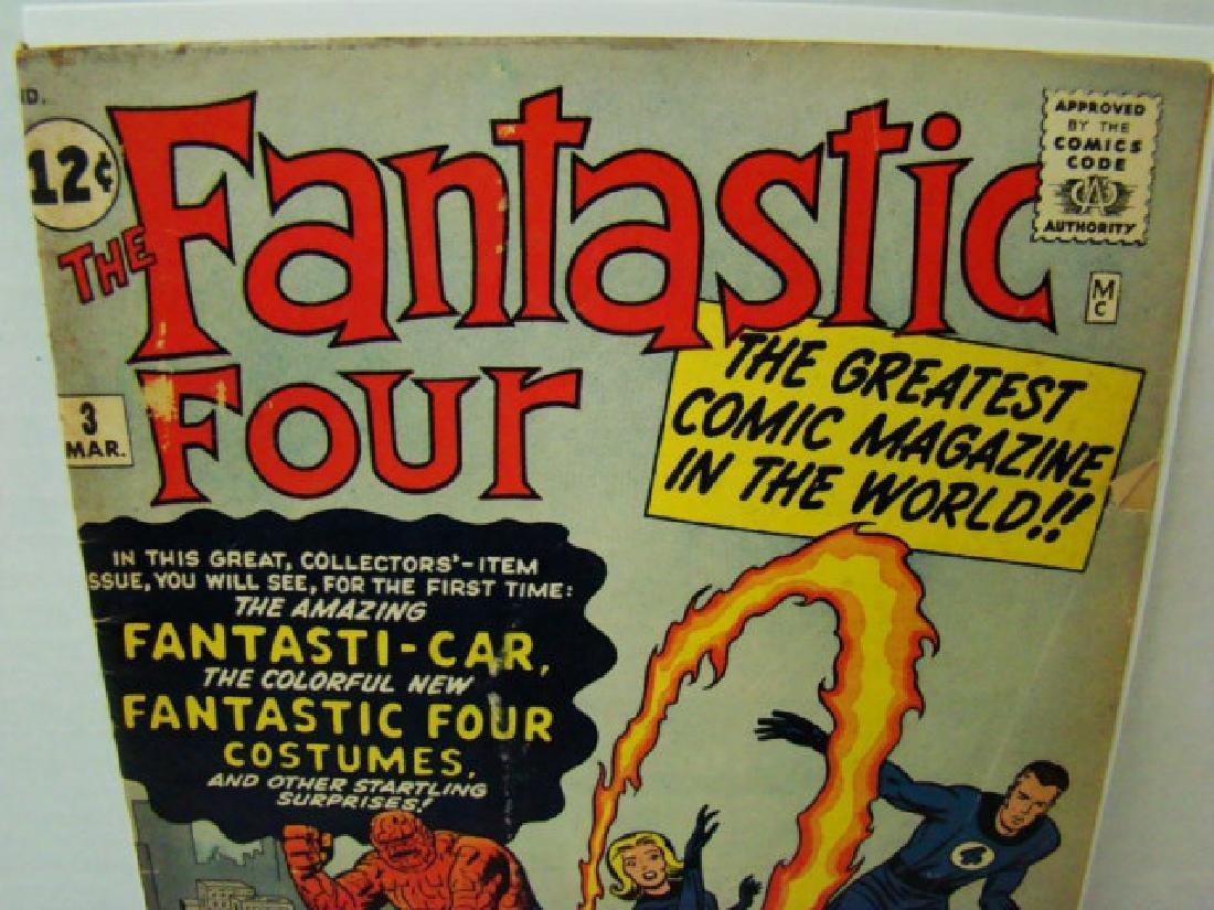 RARE FANTASTIC FOUR VOL 1 #3 - MARCH 1962- 12 CENT - 2