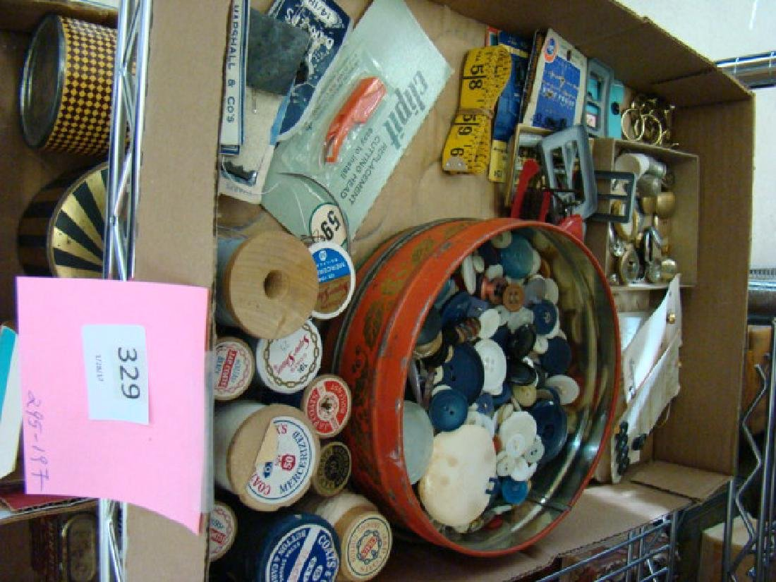 SEWING NOTIONS-VINTAGE BUTTONS AND MORE - 2