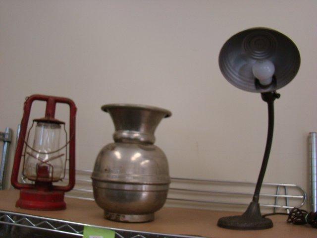 VINTAGE SPITOON-DESK LAMP-LANTERN