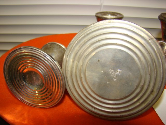 TWO SETS OF STERLING CANDLEHOLDERS - 3