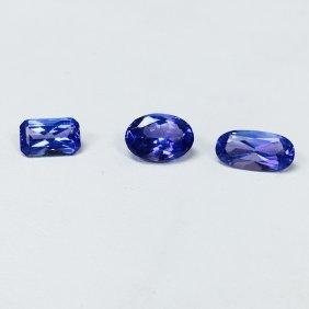 7.40 Carat, Loose Tanzanite Stones. 100% Natural