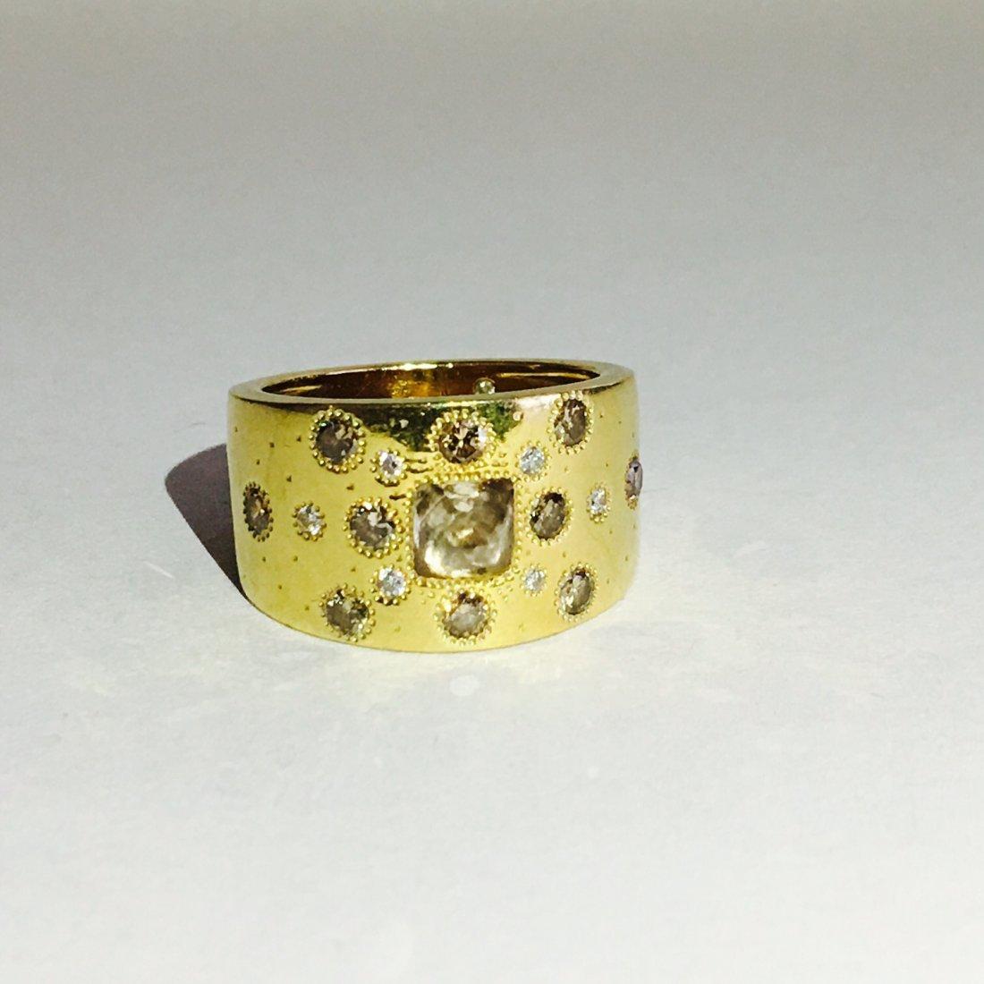 de beers talisman collection 18kt fancy diamonds ring