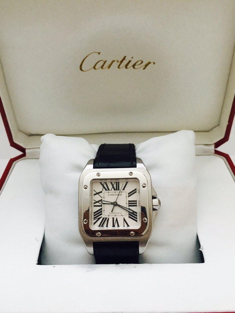 Cartier Santos 100 Medium Unisex Stainless Steel Watch