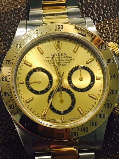 Rolex 18K Gold/Stainless Steel Cosmograph Daytona