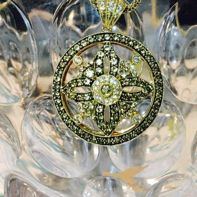 14K Gold LeVian White & Chocolate Diamond Necklace - 2