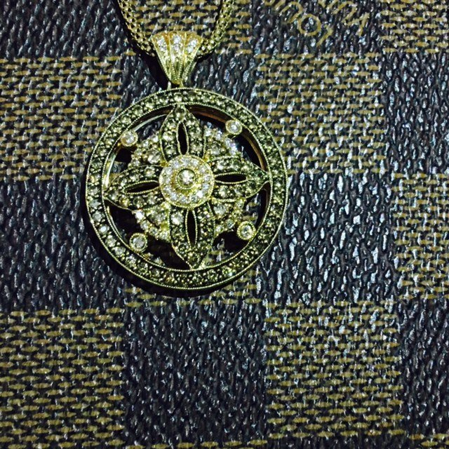 14K Gold LeVian White & Chocolate Diamond Necklace - 4