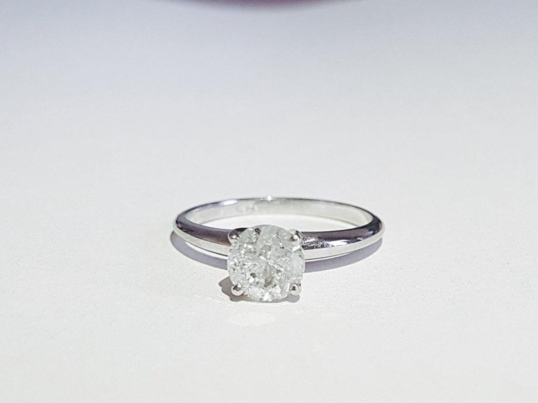 14K Gold, Diamond Engagement ring. Tiffany Setting