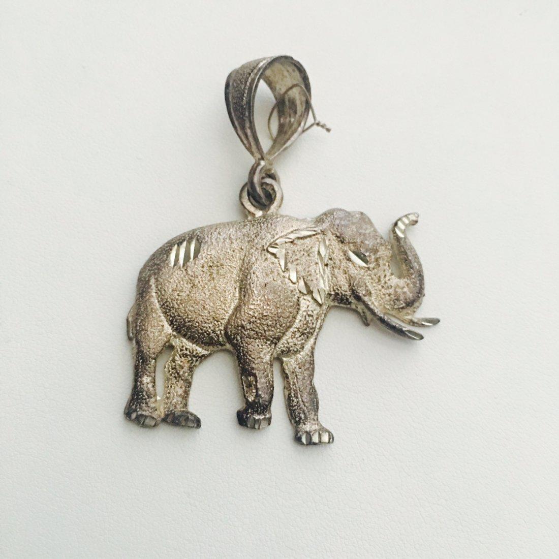 Lucky Elephant Silver Pendant.