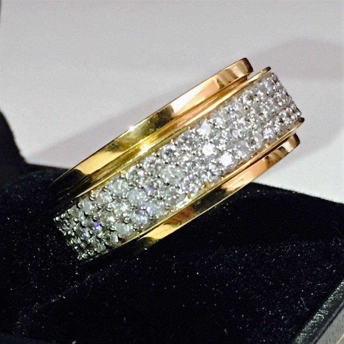 18k Yellow Gold, 4.50 Carat VVS Diamond Ring - 2