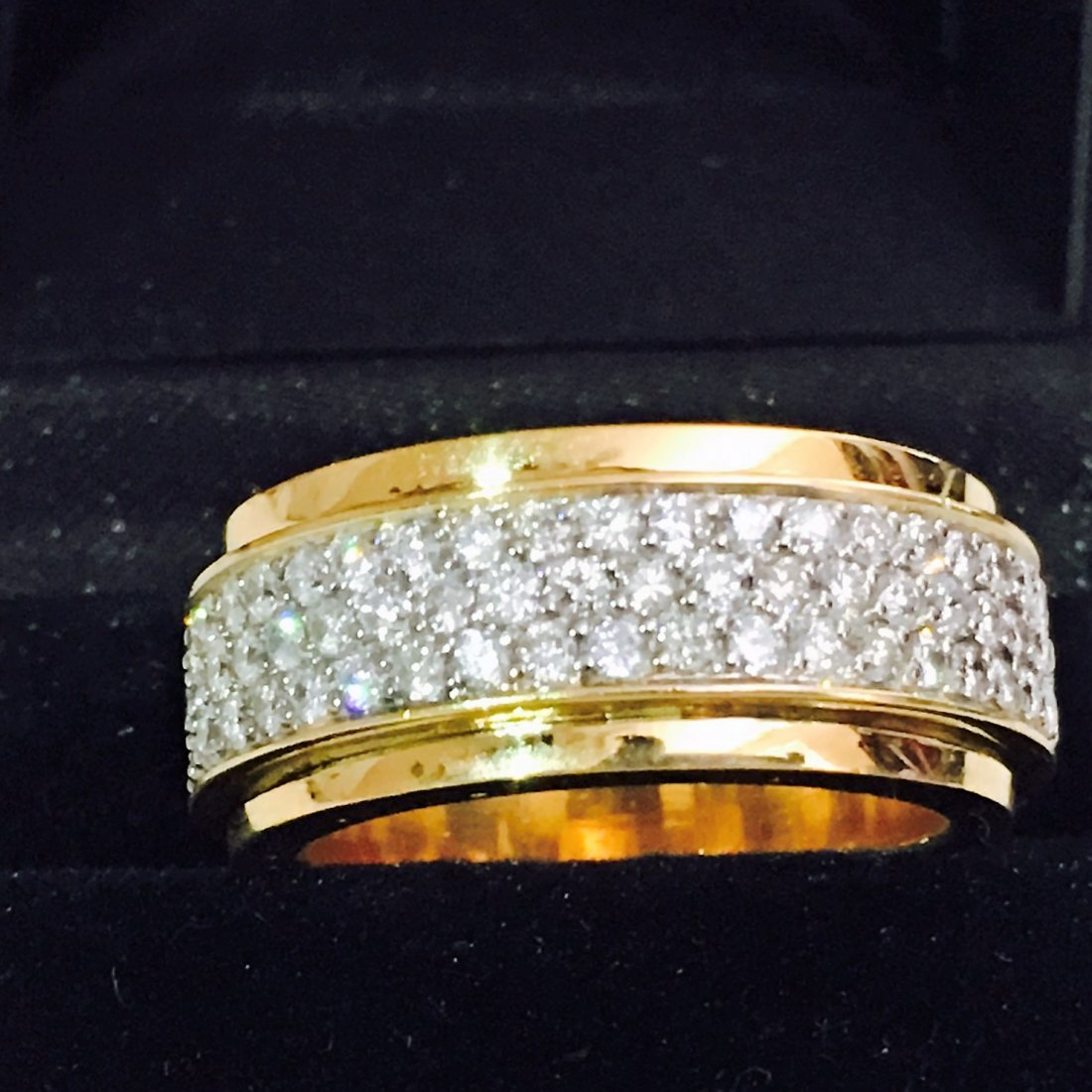 18k Yellow Gold, 4.50 Carat VVS Diamond Ring - 3