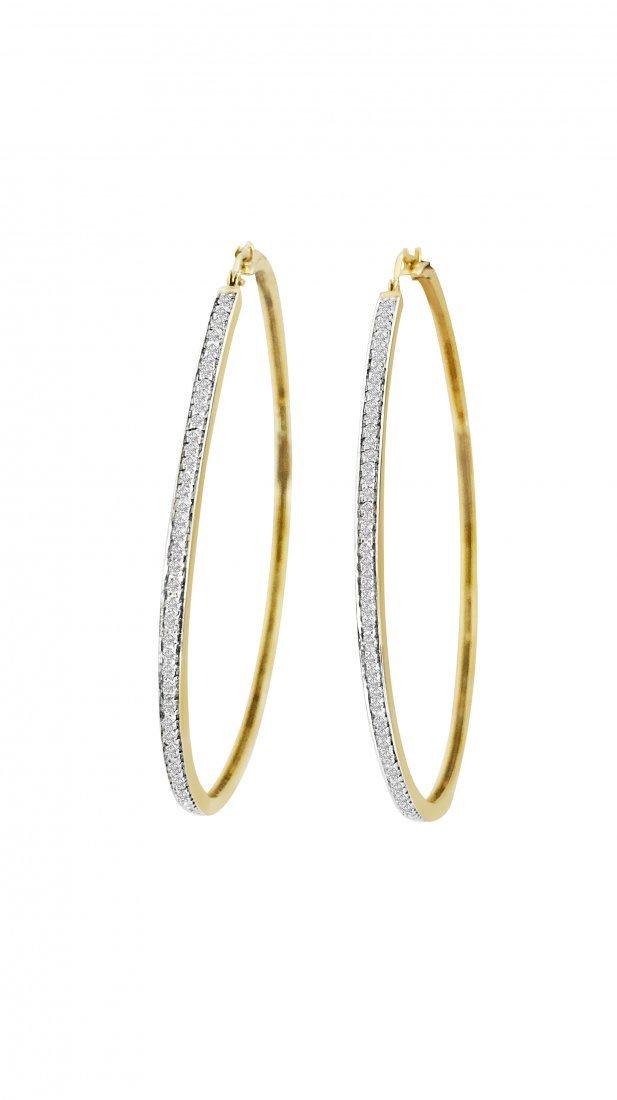 18k Baby Phat Diamond Earrings