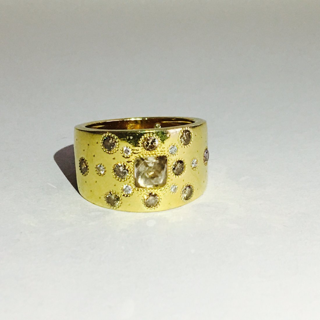 18k Gold ROUGH DIAMOND RING De beers Collection