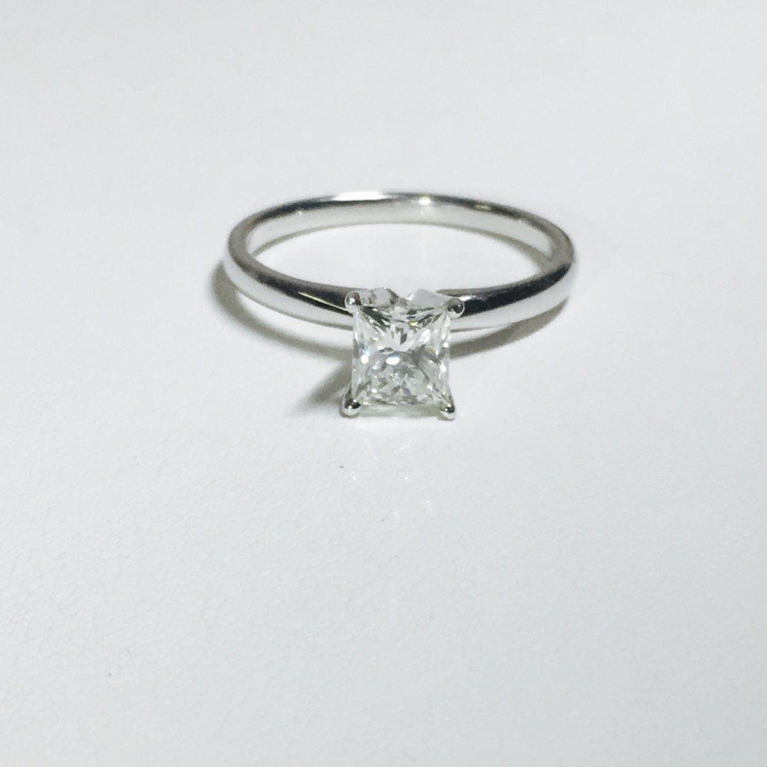 14K White Gold, Solitaire Diamond Engagement Ring (GIA)