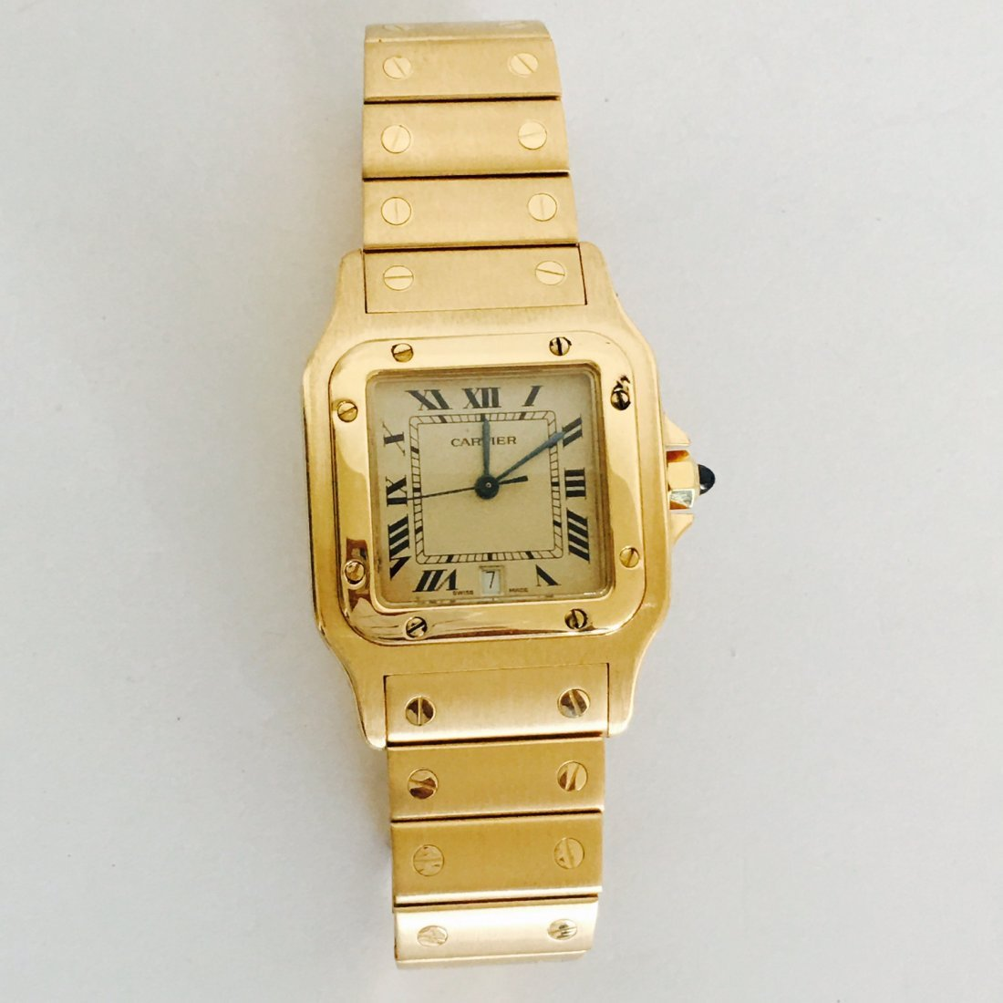 Cartier Santos 100 Midsize ALL GOLD 18K