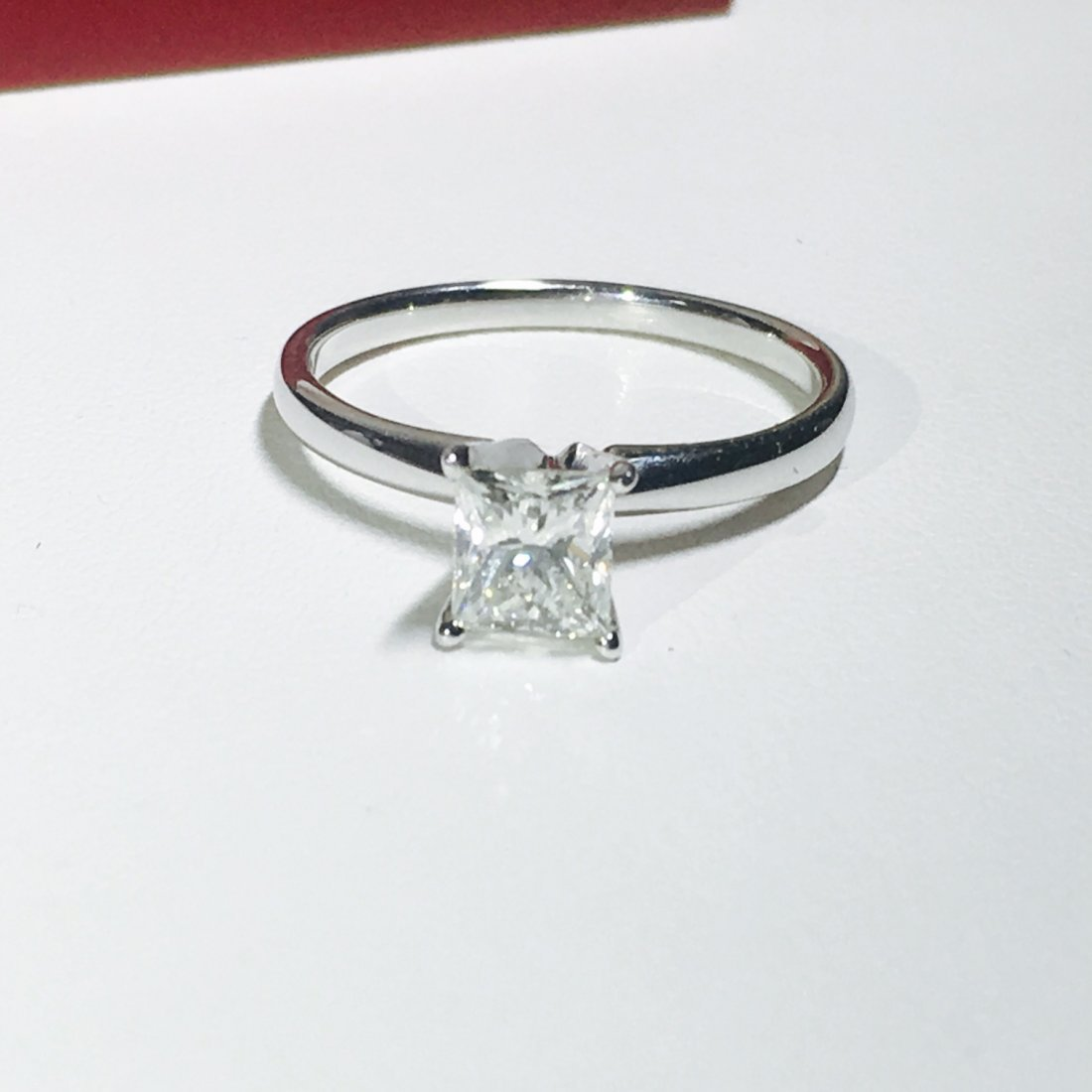 14K White Gold, Solitaire Diamond Engagement Ring (GIA)