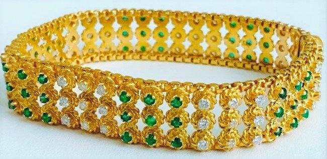 18K DIAMOND and Emerald BRACELET